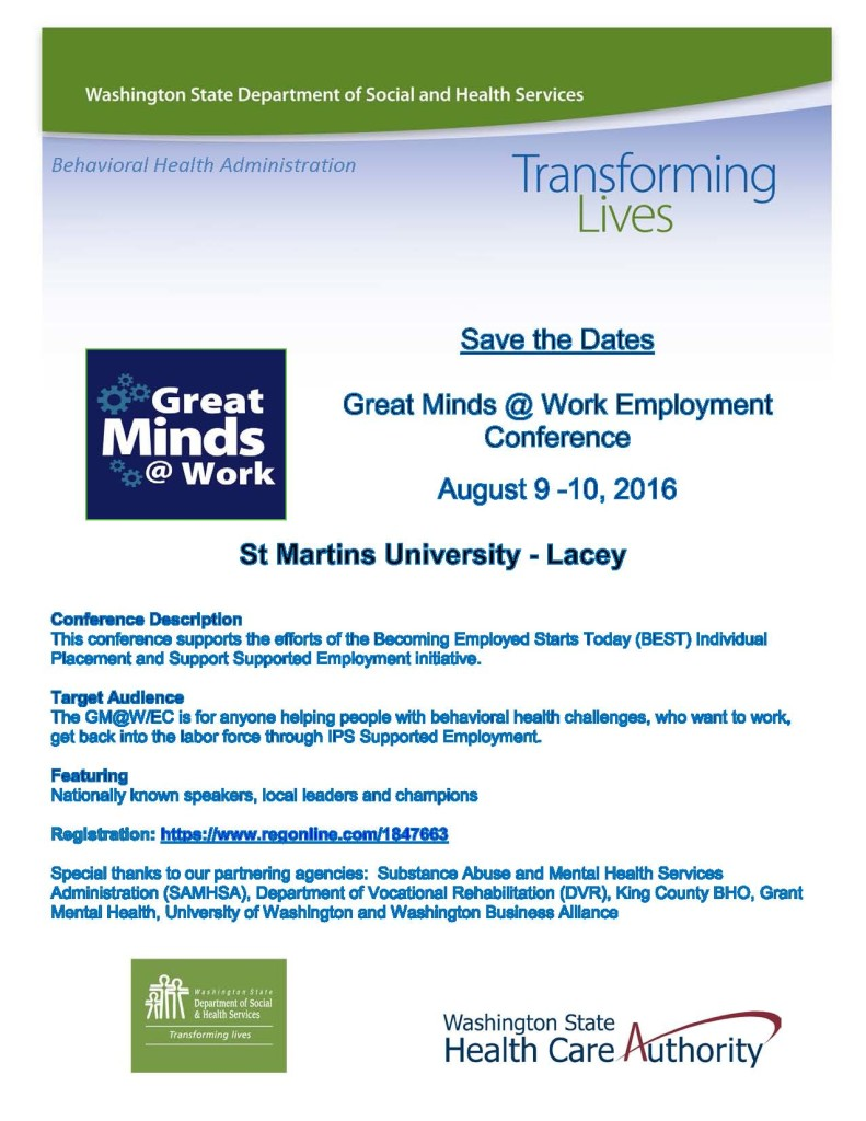 Great Minds Work Employment Conference Washington Council For